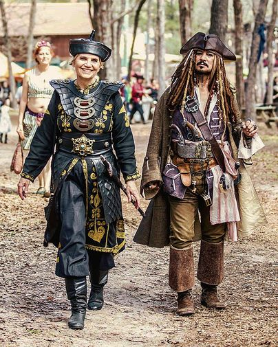 Invite Captain Jack Sparrow And/or Elizabeth Swann Impersonators To Your  Next Pirate Event. The Captain And Elizabeth Can Travel ...